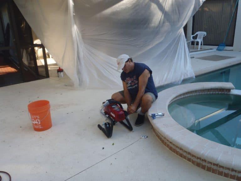 Mark getting pressure washer ready