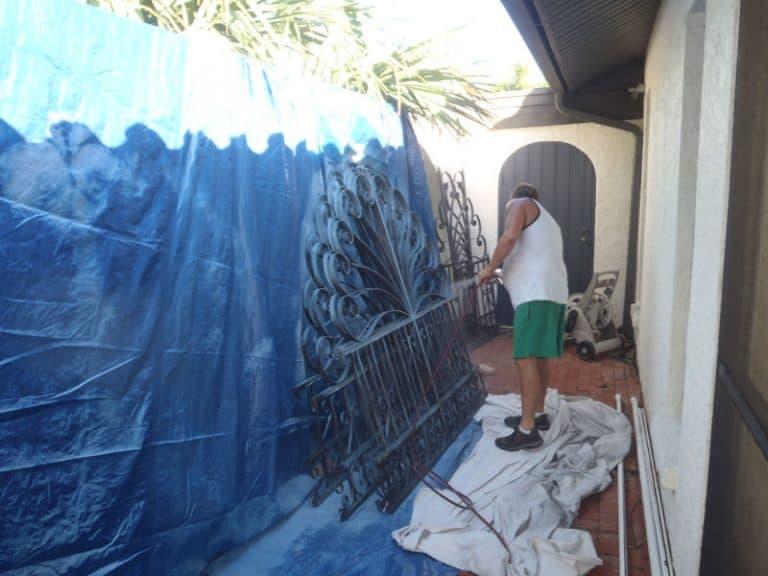 Repainting gates