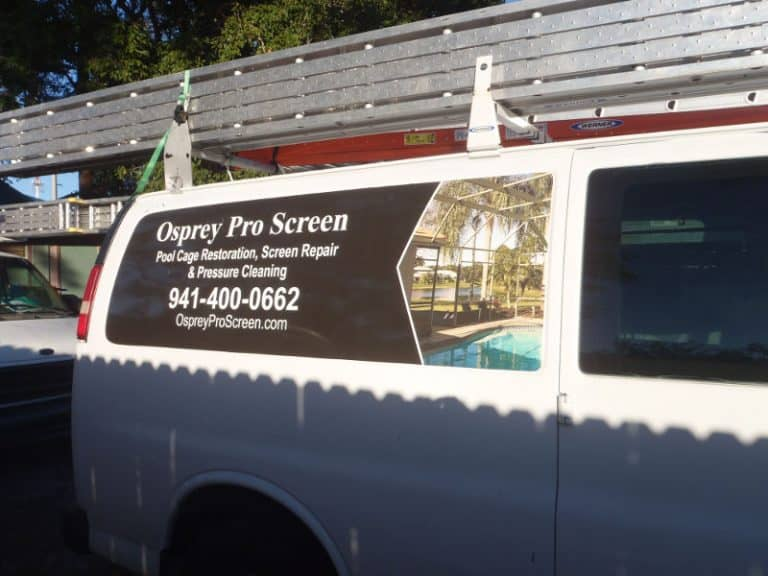One of the Osprey Pro Screen vans