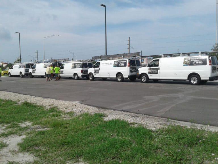 The work vans of Osprey Pro Screen